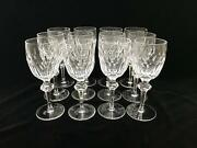 Waterford Crystal Curraghmore Claret Red Wine Spirits Glass Set Of 12