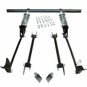 Triangulated Rear 4-link W/ Coilovers 37 1937 Ford Coupe - Club, Standard, Del