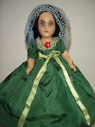 Antique All Composition Scarlett Oand039hara Doll Ballgown Looks Madame Alexander