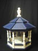 Poly Bird Feeder Amish Gazebo Handcrafted Homemade Ivory And Blue Roof Md