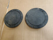 Lot Of 2 Platic 8 Black Screw Out Deck Plates Tempress