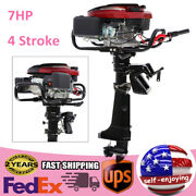 7hp 4 Stroke Outboard Motor 196cc Fish Boat Engine Motor Air Cooling Cdi System