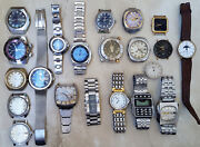 Fortis Sandoz Alfex Edox Casio Tabbah And Much More Lot Of 21 Watches