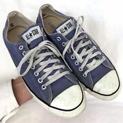 Vintage Usa-made Converse All Star Chuck Taylor Shoes Size 9.5 Blue See Video