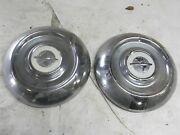 1955 Oldsmobile Hub Caps Wheel Covers Cool Quantity 2 Big Dent On One Other Ok