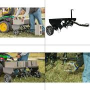 40 In. Plug Aerator | Behind Tow Lawn Steel Inch Durable Universal Hitch Tractor