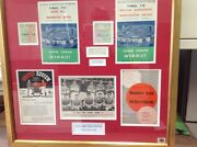 Man Utd Busby Babes Autographed Photo And Programmes