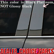 Black Platinum Stainless Pillar Posts 6pc For 2007-2016 Gmc Acadia 07-10 Outlook