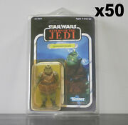 50 X Action Figure Case - New And Vintage Style Star Wars Or Gi Joe Carded Figures