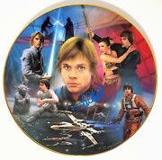 Mark Hamill Signed Autographed Collectors Plate Star Wars Psa/dna Ac27803