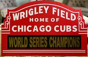 Large Custom Wrigley Field Marquee Chicago Cubs Collectible Sign Your Text