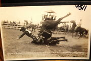 4311,real Photo,bob Crisp On Horse,1930,lincoln And Billings Rpo Pm