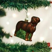 Old World Christmas Standing Chocolate Lab Ornament