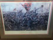 Rare Civil War Print, Don Troiani, Give Them Cold Steel Boys, Signed/numbered