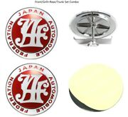 Universal Japan Automobile Federation Jaf Red Badge For Front Grille+rear Trunk