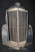 1937 Packard 115/120 Grille Shell Grille And Hood Ornament - Rat Rod Wall Art
