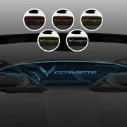 Corvette Text And Flag Logo Blue Lighted Wind Restrictorandreg For 14-19 C7 Convertible