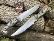 1 Busse Combat Satin Infi Urgent Fury W/ Black And Tan G10 Never Used