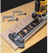 Milescraft Sign Making Router Jig Complete Templates Bits Bushings Kit Woodshop