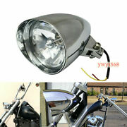 Chrome Billet Headlight Parts For Softail Chopper Bobber High And Low Beam