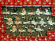 Personalized Christmas Tree Dog Ornaments Dangle Legs I Personalize W/ Name