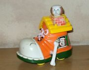 Vintage 1970's Echo Hong Kong Dog In A Boot Wind-up Toy