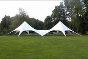 Commercial Wedding Event Camping Beach Yard Patio Pool Double Star Stretch Tent