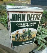 John Deere Quality Farm Equipment Used - Large Official Metal Lunch Storage Box