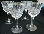 Set Of Eight 8 Signed Gorham Clear Lead Crystal Cherrywood Water Goblets