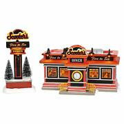 Department 56 Snow Village Scooterand039s Diner Lighted Building 6003135