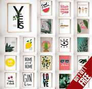 Summer Posters Motivational Prints Inspirational Funny Quote Wall Art A3 A4