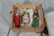 Polonaise By Komozja Holy Family Hand Blown Glass Ornaments Boxed Set New