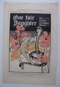 Rare Orig 1897 One Fair Daughter Art Nouveau Nude With Snake Poster Leyendecker