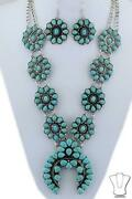 Squash Blossom Necklace Set Beaded Chain Fashion Jewelry