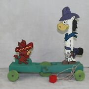 Hanna-barbera Quick Draw Mcgraw 1964 Riley Toys England Pull Toy Fisher Price