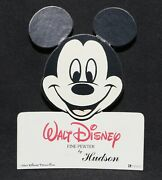 Disney Mickey Mouse Hudson Pewter Figurines Die Cut Store Display Sign
