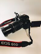 Mint Canon Eos 60d Digital Camera 18 Mp Slr With All Accessories Pictured