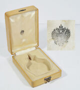 Antique Russian Imperial Wood Box Perfume Flask Late 19th C. Russia