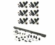 2200cc Fuel Injectors And Top Feed Fuel Rail Kit For R33 Rb25det Skyline - Bosch