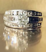 Triple-band Womenandrsquos Diamond Ring Over 2 Carats Tw Appraised Value 6000.