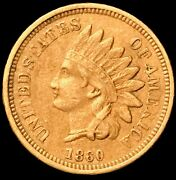 1860 Indian Head Cent Key To The Date Sought-after Pointed Bust Type 2 Ih182