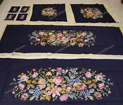 18th Neo-classical Reproduction Sofa Chair Cover Sets Rose Lily Daisy Hand Woven