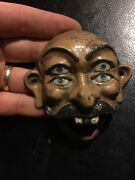 Cast Iron Beer Soda Bottle Opener Man Cave Hermano Loco Mexico Patina Wow Gift