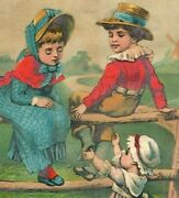 Large 1880and039s Schultz And Co. Star Soap Windmill Adorable Children Fence 7d