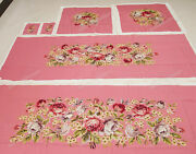 Renaissance Style Full Floral Deluxe Antique Reproduction Chair Sofa Cover Sets