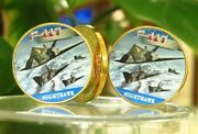 2 U.s. Air Force Usaf | Nighthawk F-117 | Military Gold Plated Challenge Coin