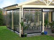 Waterproof Commercial 0.5mm Tpu Clear Awning Canopy Patio Roll Up Enclosure New