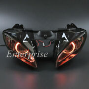 Projector Hid Headlight Red Halo Angel Eyes For Yamaha Yzf R6 06-07 6000k Lamp