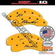 Mgp Caliper Brake Cover Yellow 32014sprlyl Front Rear For Chrysler Prowler 01-02
