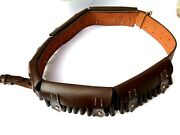 2 X Pack Of Twobritish Martini-henry Bandolier P-1882 Brown Leather